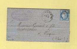 Convoyeur Station - Brassac Les Mines - Ligne 180 - Nimes A Clermont Ferrand - 1873 - Puy De Dome - 62 - 1849-1876: Klassieke Periode