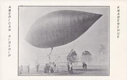 AMERICAN AIRSHIP KNABENSHUE - GLOBO AEROSTÁTICO ZEPELIN ZEPPELIN POSTAL CIRCA 1920's NOT CIRCULETED -LILHU - Globos