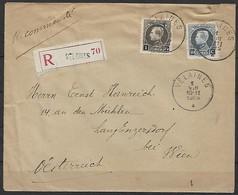 Belgien - R - Brief  01.08.1925 / Velaines Nach Engersdorf Bei Wien ( Österreich ) / Siehe Fotos - Belgique