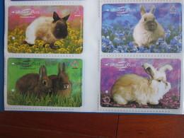 Transitlink Metro Ticket Card,Bunny Tales Rabbits,set Of 4 - Singapur