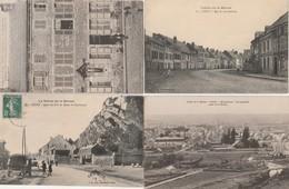 4 CPA:GIVET (08) RUE DE LUXEMBOURG,MAISON NOTRE DAME CRUCIFIX DE 1764,QUAI DU FORT DE ROME EY CHARLEMONT,VUE - Givet