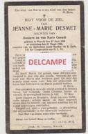 DOODSPRENTJE DESMET JEANNE DOCHTER VAN GUSTAVE EN CNEUDT WERVIK 1910 - 1928   Bewerkt Tegen Kopieren - Devotion Images