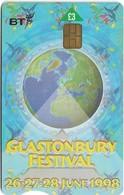 UK - BT (Chip) - BCC-143 - PRO401 - Glastonbury Festival 1998, 3£, 21.000ex, Used - BT Generales