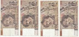 Lot De 4 Billets 100 Francs Delacroix - 1962-1997 ''Francs''