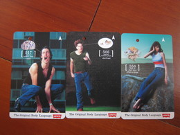 Transitlink Metro Ticket Card,Levi's Jeans, Set Of 3 - Singapore