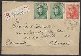 Belgien - R - Brief  24.04.1920 / Ecaussinnes Nach Engersdorf Bei Wien ( Österreich ) / Siehe Fotos - Belgio