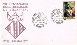 35011. Carta VILLARREAL (Castellon) 1974. VII Centenario Fundacion De Villarreal - 1931-Hoy: 2ª República - ... Juan Carlos I