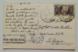 Cartolina Illustrata Pisa-La Spezia - 10/01/1933 - 1900-44 Victor Emmanuel III.