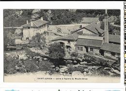SAINT-JUNIEN Usine à Papiers Du Monlin Brice, Envoi 1916 - Saint Junien