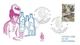 FDC Venetia - Italia 1987 - L'alcolismo - Absinthe Degas - Viaggiata - Tematico - Sin Clasificación
