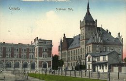 GLEIWITZ GLIWICE, Krakauer Platz, Plac Krakowski (1910s) Polen AK - Schlesien