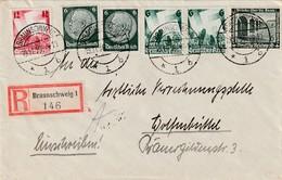 Deutsches Reich / 1936 / Reco-Brief Mit Int. MiF Ex Braunschweig (2678) - Deutschland