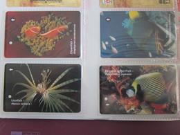 SMRT Metro Ticket Card,Ocean Fishes, Set Of 4 - Singapore