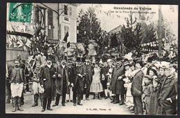 VOIRON: Cavalcade De Voiron, Plan TOP Sur Le Char Et La Foule Place St. Bruno. Carte Obl. En 1910 - Voiron