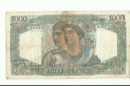 Billet De 1000 Francs  1949 - 1871-1952 Antichi Franchi Circolanti Nel XX Secolo