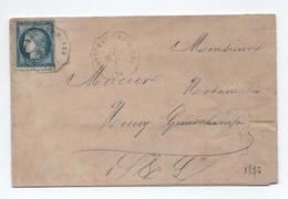 1876 - LETTRE Avec CONVOYEUR STATION De MONTCEAU LES MINES (SAONE ET LOIRE) - Postmark Collection (Covers)