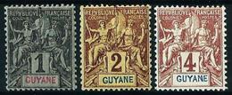 Guayana (Francesa) Nº 30-31-32 Nuevo* - French Guiana (1886-1949)