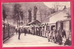 31 - LUCHON--Départ Du Chemin De Fer A Cremailleres De Superbagneres--train--tres Animé - Luchon