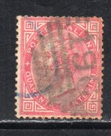 Rox 1863 Regno D'Italia Tiratura Torino 40C  Usato - 1861-78 Victor Emmanuel II