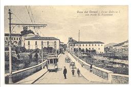 CAVA DEI TIRRENI - CORSO UMBERTO I.  CON PONTE S. FRANCESCO - Cava De' Tirreni