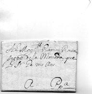 L.A.C. D'ARLES (sur Tech)écrite En Catalan Pour PERPIGNAN Le 15/3/1752 Pour ROVIRA,Juge Des Monnaies. - Poststempel (Briefe)
