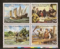 (Fb).Stati Uniti.1992.Colombo.4 Val Da 29c Nuovi In Quartina,MNH (92-19) - Vereinigte Staaten