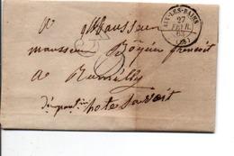 PLI DE AIX LES BAINS 1863 - Marcophilie (Lettres)