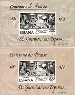 (Fb).Spagna.1981.Foglietto  Normale E Altro Con Varietà Di Carta,di Stampa E Di Colore (439-16) - Abarten & Kuriositäten