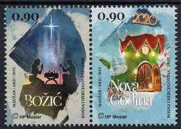 Bosnia & Herzegovina - Mostar - 2019 - Christmas And New Year - Mint Stamp Set - Bosnia Erzegovina