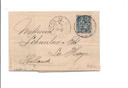 SAGE SUR LETTRE DE PARIS 48 1902 - Marcophilie (Lettres)