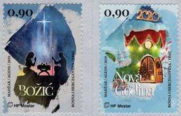Bosnia & Herzegovina - Mostar - 2019 - Christmas And New Year - Mint Self-adhesive Stamp Set - Bosnia Herzegovina