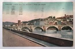 173 Firenze - Saluti Dalle Rive Dell'Arno - Ponte Delle Grazie - Firenze