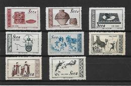 CHINE.  8 Timbres - China