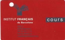 SCHEDA TESSERA INSTITUT FRANCAIS DE BARCELONA  NON ATTIVA - Autres Collections