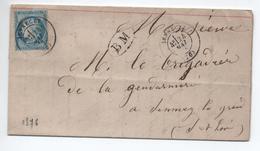 1876 - LETTRE Avec TYPE 17 De SENNECEY (SAONE ET LOIRE) & BOITE MOBILE BM - Marcophilie (Lettres)