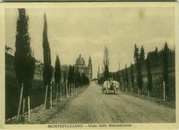 MONTEPULCIANO ( SIENA ) VIALE DELLE RIMEMBRANZE - EDIZ. QUADRI LIVIO - 1934  (3812) - Siena