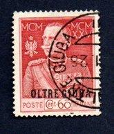 Francobollo -  Cent. 60 Oltre Giuba 1925 - Usato - Usati