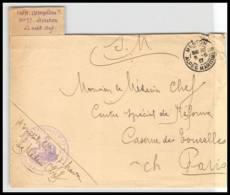 52212 Alpes Maritimes Menton 1917 Hopital Complementaire 77 Sante Guerre 1914/1918 War Devant De Lettre Front Cover - Poststempel (Briefe)