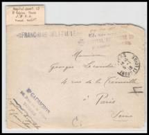 52297 Indre Et Loire Tours 1918 Hopital Auxiliaire 10 Gaurichon Sante Guerre 1914/1918 War Devant De Lettre Front Cover - Marcophilie (Lettres)