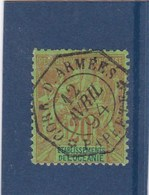 20c ,obliteration ,CORP D'ARMEES - Océanie (Établissement De L') (1892-1958)