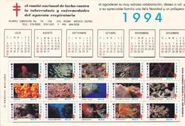 """ALMANAQUE DEL AÑO 1994. CON VIÑETAS DE """"EL ARRECIFE MEXICANO"""" MEXICO. COMITE LUCHA CONTRA TUBERCULOSIS. RARE RARO -LILHU - Tamaño Grande : 1991-00"""