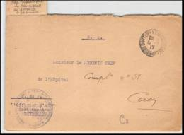 52393 Seine Maritime Sotteville 1917 Hopital Approvisionnement Service Sante Gestion Sante Guerre 1914 Devant De Lettre - Marcophilie (Lettres)