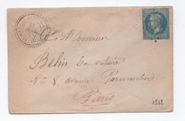 1868 - LETTRE Avec CACHET PERLE TYPE 22 De CHATEAUNEUF SUR SORNIN (SAONE ET LOIRE) & GC 4610 (INDICE 11) - ETAT - Marcophilie (Lettres)