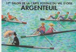 CPM  (95) ARGENTEUIL 1997 17 Salon Sport Nautique Aviron Pinceau  Llustrateur L. KOUPER  (2 Scans) - Beursen Voor Verzamellars
