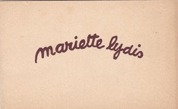 "EXPOSITION ""MARIETTE LYDIS"" - INVITATION TO ART EXHIBITION. GALERIES DE L'ART BELGE, BRUXELLES BELGIUM. YEAR 1949 -LILHU - Documentos Antiguos"