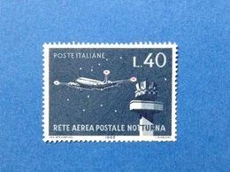 1965 ITALIA RETE AEREA POSTALE NOTTURNA 40 LIRE FRANCOBOLLO USATO STAMP USED - 6. 1946-.. Republic