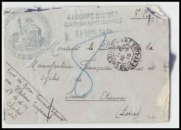 52543 Taxe 8 Eure Et Loire Chartres 1915 Hopital Temporaire 10 Manufrance St Etienne Sante Guerre 1914/1918 War Lettre C - Marcophilie (Lettres)