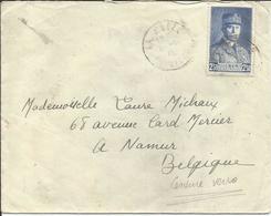 1941 - N° 473 Oblitéré (o) SEUL Sur Lettre CENSUREE Vers Belgique - Frankreich