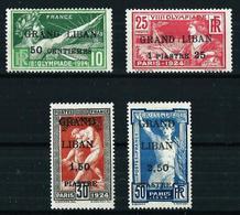 Gran Líbano (Francés) Nº 18/21 Nuevo*/(*) Cat.160€ - Unused Stamps