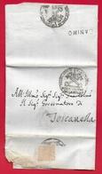 PREFILATELICA PONTIFICIO - 1823 Lettera Con Testo CANINO TOSCANELLA Timbro Postale E Sigillo GONFALONIERE - 1. ...-1850 Prefilatelia